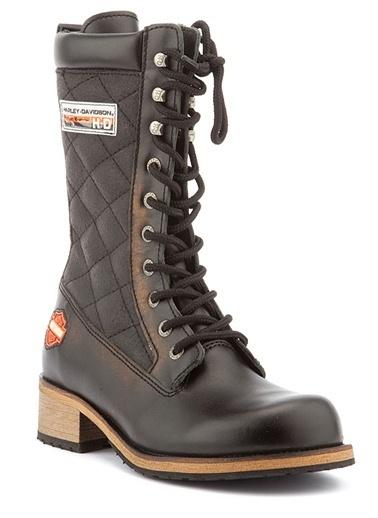 Deri Çizme-Harley Davidson